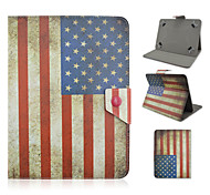Star-Spangled Banner Pattern High Quality PU Leather with Stand Case for 10 Inch Universal Tablet