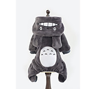 Totoro Pet Apparel Dog  Fleece Clothes