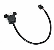 Cwxuan™ Dual USB 2.0 Female to Motherboard 9-Pin Header Cable with Screw Holes