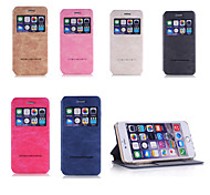 Single Window Crazy Horse Pu Leather Mobile Phone Flip Cover for iphone6 4.7 Assorted Colors