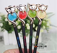 Fox Ornament Black Ink Gel Pen(Random Color)