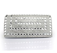 Handbag Faux Leather Evening Handbags/Clutches With Crystal/ Rhinestone
