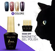 4pcs azuis / lot gato magnética olho cor das unhas de gel absorver off gel uv polonês magia unha polonês (# 51 + 52 + # # # 53 + 54)