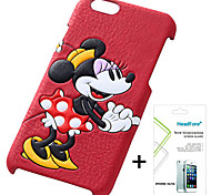 Disney Minnie Cover Case for Iphone5S/5G Free with Headfore Screen Protector for Iphone 5S/5G