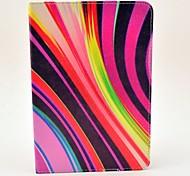 la moda de diseño de coco Fun® patrón de camuflaje de la raya de la PU del tirón del cuero caso del soporte para Apple iPad Mini 1/2/3