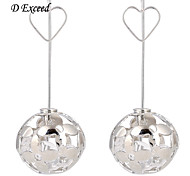 D Exceed 2015 Fashion Hollow Out Big Ball Flower Long Dangle Drop Earring for Women(Silver or Gold)