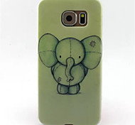For Samsung Galaxy Case Pattern Case Back Cover Case Elephant TPU Samsung S6 edge / S6