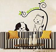 наклейки для стен стены наклейки наклейки в стиле мультфильм собака кошка ПВХ стены