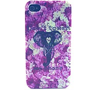 Elephant Pattern PC Material Phone Case for iPhone 4/4S