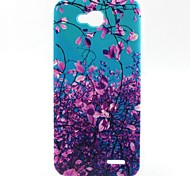 Leaves Pattern TPU Material Soft Phone Case for LG L90 D405