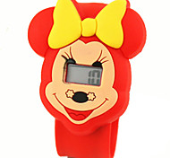 Children's Cute Cartoon Silicone Ultraman Minnie Pattern   Lovely Digital Calendar Water Resistant  Slap Watch Cool Watches Unique Watches