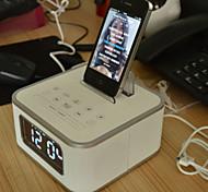 iristime bluetooth Lautsprecher mit FM / Wecker / Fernbedienung / Ladekabel für iPhone und Android-Handy