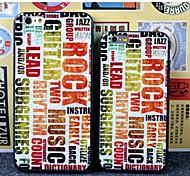 música impressão pichações caso TPU para iphone5 / 5s