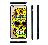 Colorful Skull Pattern Silica Gel Edge Back Case for iPhone 6