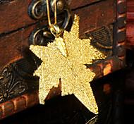 hojas románticas de oro colgante dorado temperamento Corea