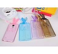 Transparent Rabbit Ears Pattern Design TPU Protective Case with Stand for Samsung Galaxy Note 4/3(Assorted Colors)