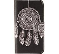 Para Funda Samsung Galaxy Cartera / Soporte de Coche / con Soporte / Flip Funda Cuerpo Entero Funda Atrapasueños Cuero Sintético Samsung