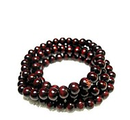 Special Round Shape Wood Beads Bracelets For Lover's(Red)(1Pc)