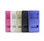 Flip Case Double Opening Window Japan and South Korea fashion  Pu Mobile Phone Shell for Huawei P8 lite Assorted Colors