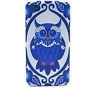 Owl Pattern PC Material Phone Case for iPhone 4/4S