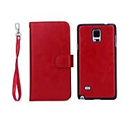 PU-Leder spezielle Design Ganzkörper Fällen Abnehmbarer 9 Karte Brieftasche für Galaxy Note 4 (Farbe sortiert)