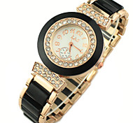 Women's Diamond Decor Dial Rose Gold Band Quartz Bracelet Fashion Watch Cool Watches Unique Watches