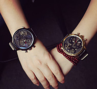 Women's Versatile  Leather High-Grade Three Outdoor Sports Wrist Watch Couple's Watch