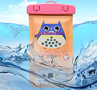 Purple Owl Pattern Transparent Waterproof Touchscreen for iPhone 6