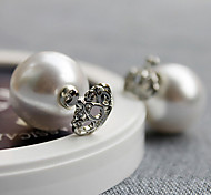 HUALUO®Crown Super Flash Korean Heart-Shaped Pearl Earrings