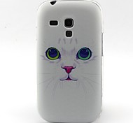 modello del gatto materiale TPU soft phone per mini i8190 galassia S3