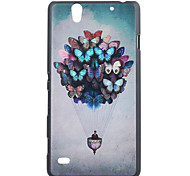 Butterfly Pattern Ultrathin Hard Back Cover Case for Sony C4