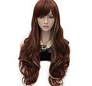 60cm de comprimento ondulado mulheres partido anime cosplay senhora sexy wig harajuku perucas longo partido