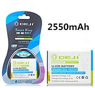ji de haute capacité 3.8V 2550mah batterie de remplacement Li-ion pour Samsung Galaxy i9220 i9228 n7000 galaxy note