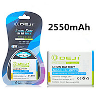 ji de alta capacidad 2550mah 3.8v batería de repuesto li-ion para Samsung i9220 Galaxy Note N7000 i9228 de la galaxia