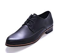 Men's Shoes Outdoor/Office & Career/Casual Leather Oxfords Black/Brown