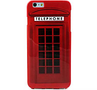 Telephone Booth Pattern TPU Soft Case for iPhone 6 Plus