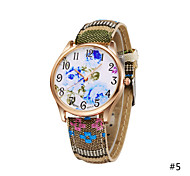 Woman Exotic Colorful Fabric Band Blue Lotus Quartz Bracelet Wrist Watch Casual Unique Diamond Watch Cool Watches Unique Watches