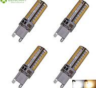 Bombillas LED de Mazorca Decorativa SENCART T G9 5W 104 SMD 3014 450-550 LM Blanco Cálido / Blanco Fresco AC 110-130 V 4 piezas