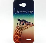 Giraffe Pattern TPU Material Soft Phone Case for LG L90 D405