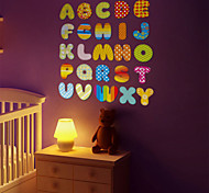 Cartoon English Letters PVC Wall Sticker Wall Decals
