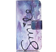 Fashion Design COCO FUN® Purple Dream Pattern PU Full Body Leather Wallet Flip Case Cover for iPhone 5/5S