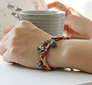 High Quality Creative Hand-Made By Literary Temperament Fan Leather Rope Weaving Pony Bracelet