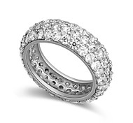 European Style Fashion Shiny Cubic Zirconia Band Ring