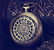 moda em forma redonda de alta densidade vidro orgânico sorte relógio estrela (bronze) (1pc)