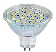 1 Stück MORSEN Dekorativ PAR Lampen PAR GU5.3 5 W 260 LM K 18 SMD Warmes Weiß/Kühles Weiß AC 24 V