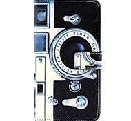 Kamera-Muster PU-Leder Material Karte Ganzkörper Fall für Samsung Galaxy Note 4