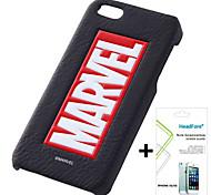 disney caso de la cubierta logotipo maravilla gratis con protector de pantalla para el iphone headfore 5s / 5g iphone5s / 5g