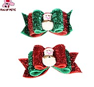 Dog Hair Accessories Spring/Fall Christmas / New Year's - Mixed Material