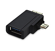 Micro USB 3.0 & 2.0 OTG Combo to USB Female Host Adapter for Galaxy Note4 Note3 S6 S5 & Tablet & Cell Phone