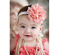 Baby Headband, Girl Headband, Peach Coral Lace Headband, Baby Girl Headband, Newborn , Vintage Toddler Fabric Headband